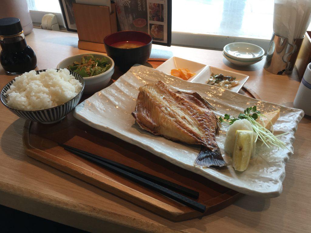 ツボ鯛の干物定食